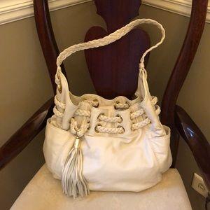 Michael Kors Bucket Bag Cream Leather